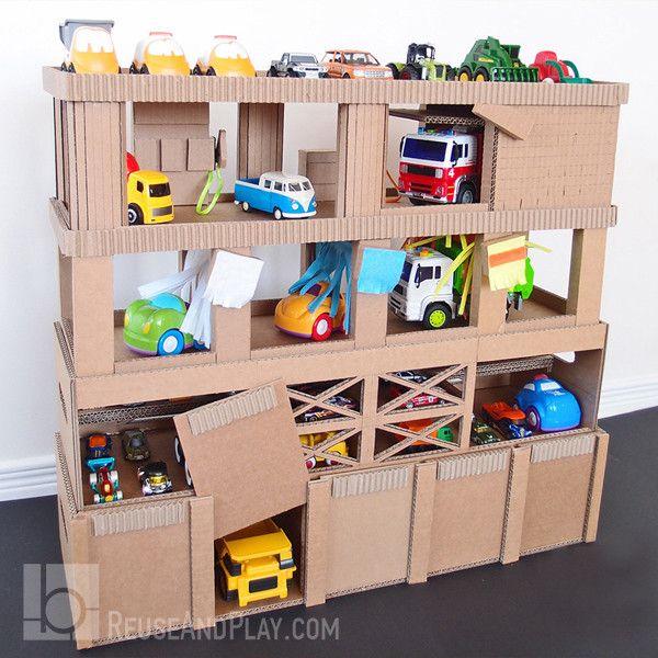Toy Car Garage Diy Toys, Garage Toy Organizer