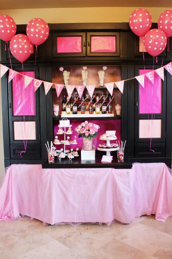 21 pink bottles of beer on the wall pink bottle 21st for 21 birthday party decoration ideas