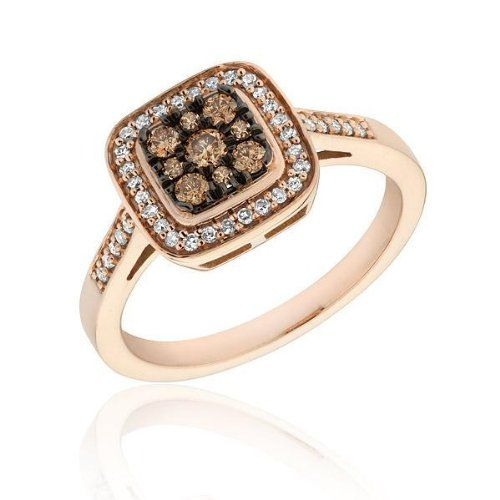 Diamond and Champagne Diamond Ring 1/3ctw -