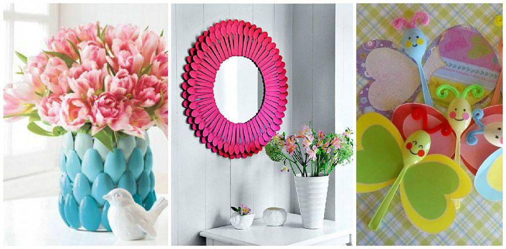 4 ideas de manualidades con cucharas de plástico | flores | Pinterest