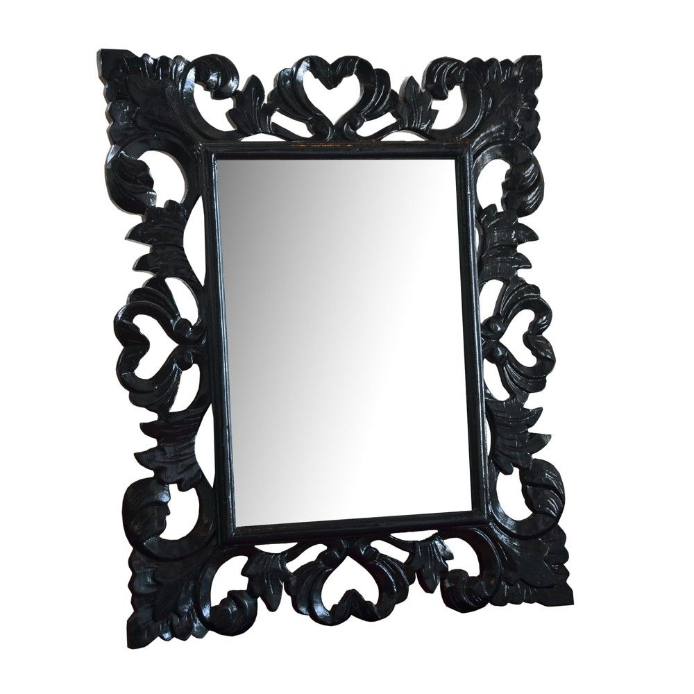 magnifique miroir baroque noir pas cher d coration. Black Bedroom Furniture Sets. Home Design Ideas