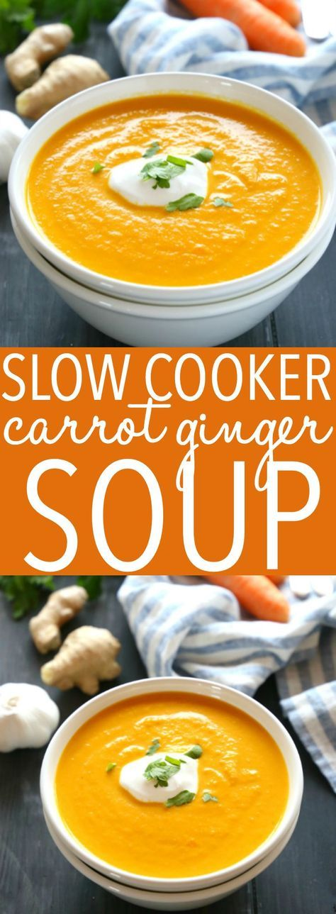Slow Cooker Carrot Ginger Soup (Dairy-Free)