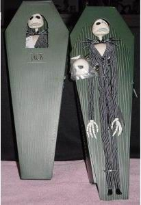 Nightmare Before Christmas Jack In Green Coffin Doll - Toys by Stacy