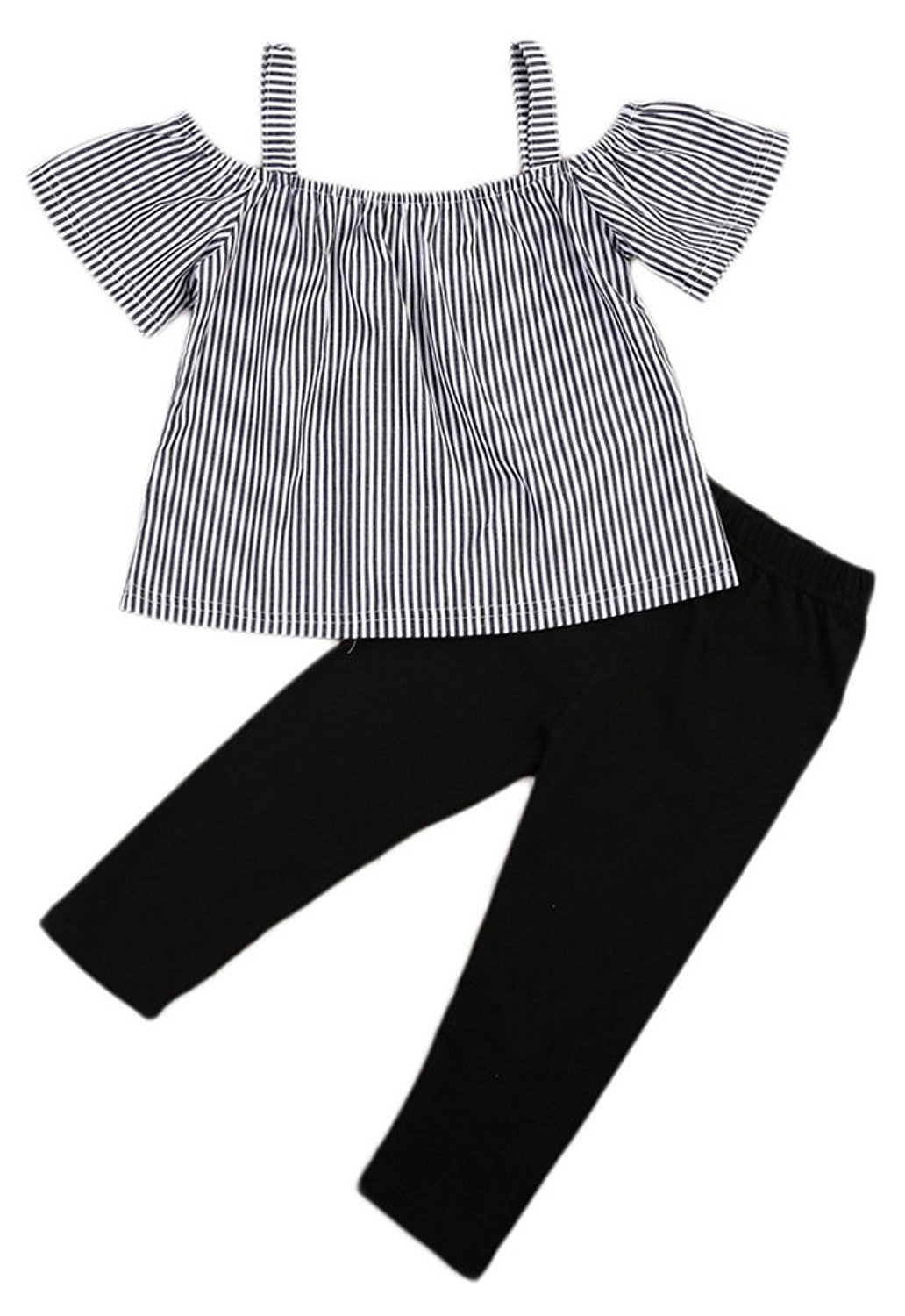 c8f5e2acb47 SALE 50% OFF + FREE SHIPPING! SHOP Our Striped Black Set for Toddler Girls
