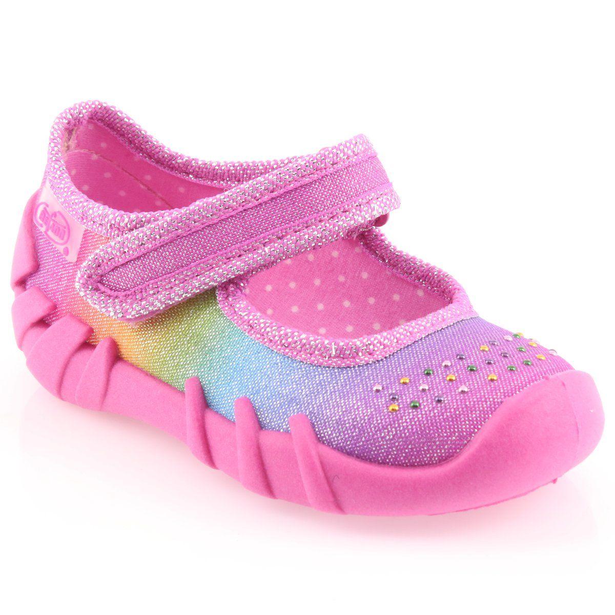 Befado Kolorowe Obuwie Dzieciece 109p183 Rozowe Wielokolorowe Childrens Shoes Kid Shoes Childrens Slippers
