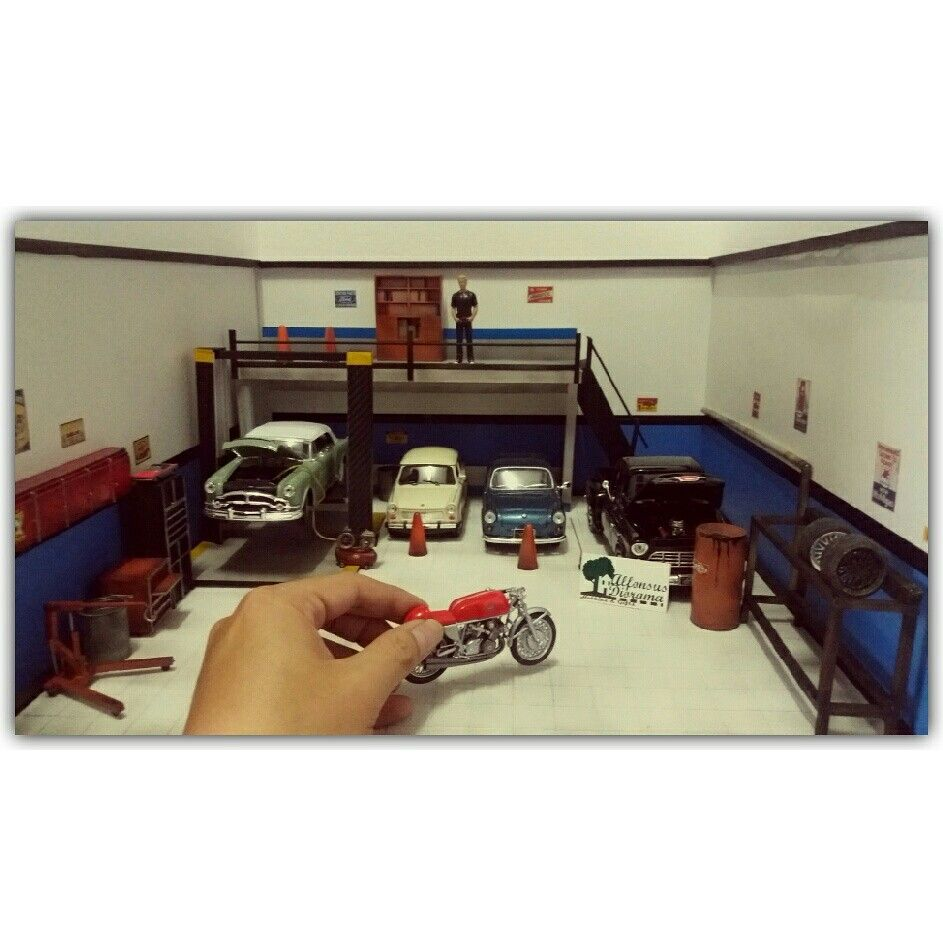 Printable Garage Diorama 1 24 - Exploring Mars