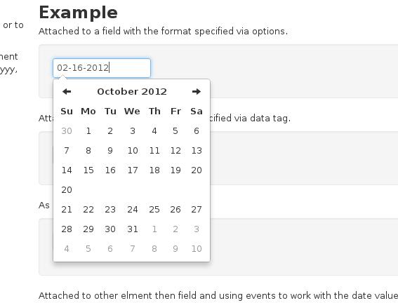 Twitters Bootstrap Date Picker | Date picker | Dating