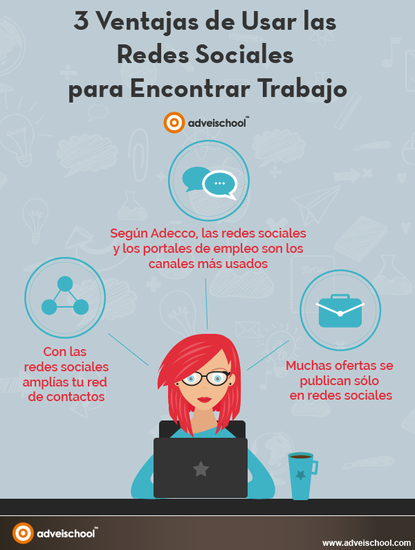 3 Ventajas De Usar Las Redes Sociales Para Buscar Trabajo Infografia Empleo Socialmedia Consejos Para Redes Sociales Redes Sociales Encontrar Trabajo