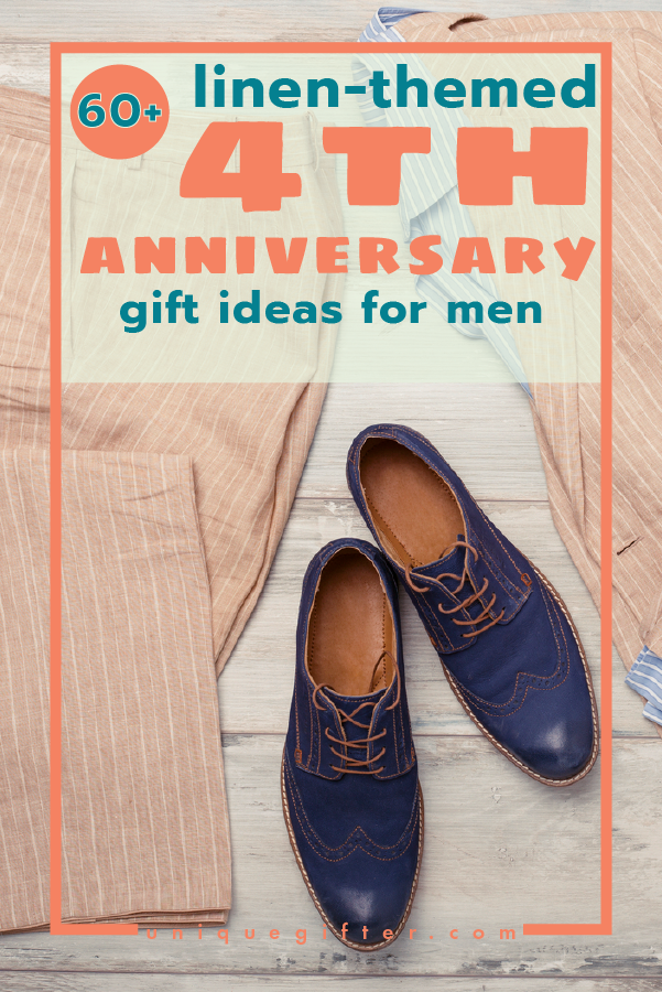60 Linen 4th Anniversary Gifts For Men 4th Anniversary Gifts Mens Anniversary Gifts 4th Wedding Anniversary Gift