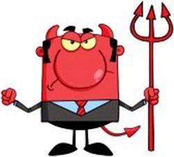 Diablo Enojado - Caricatura