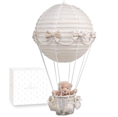 Pasito A Pasito Hot Air Balloon Lampshade With Teddy Bear