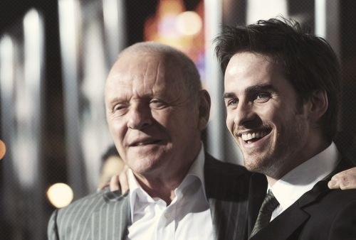 Anthony Hopkins and Colin O'Donoghue at The Rite World Premiere