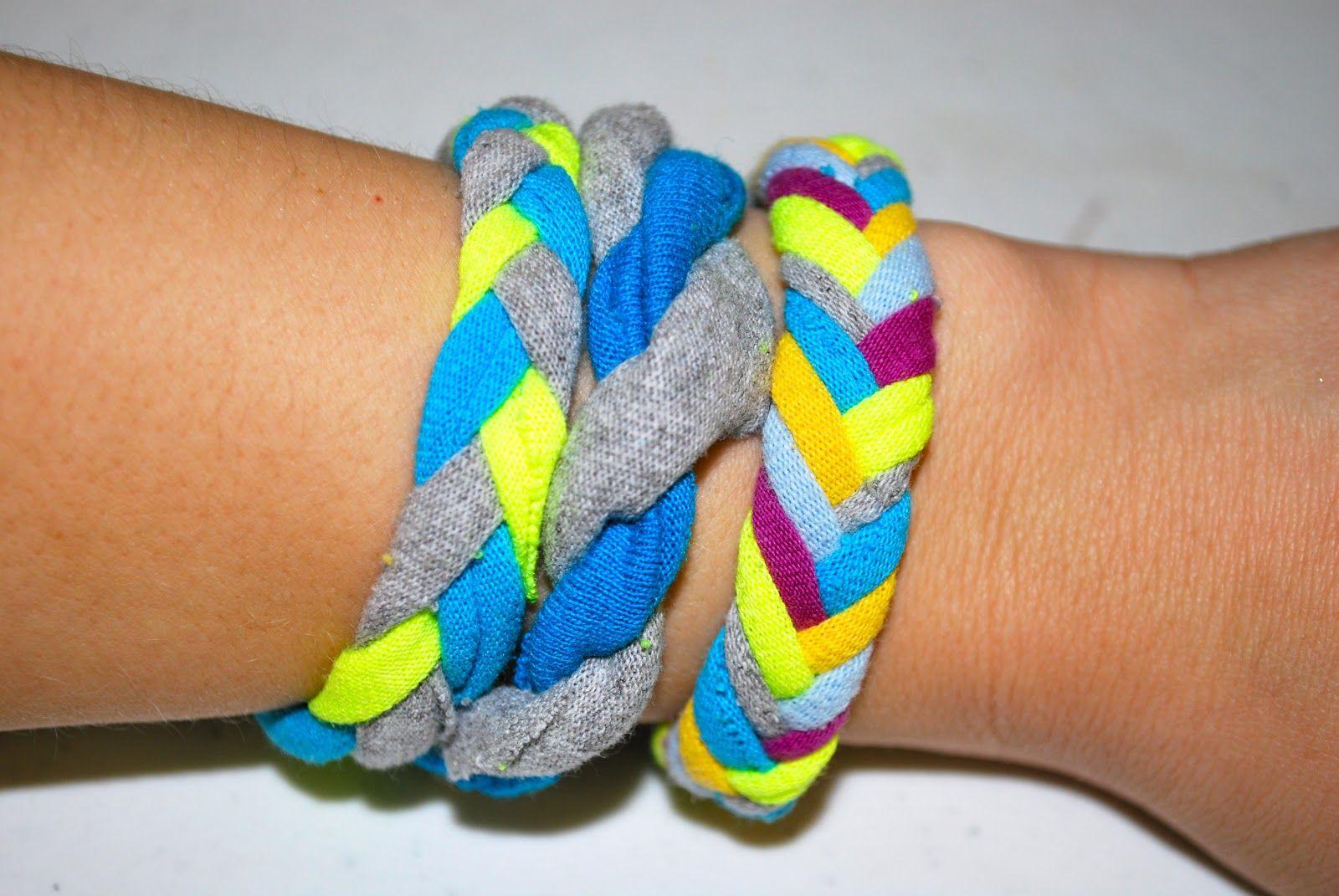 Tshirt bracelets diy tips u crafts pinterest bracelets