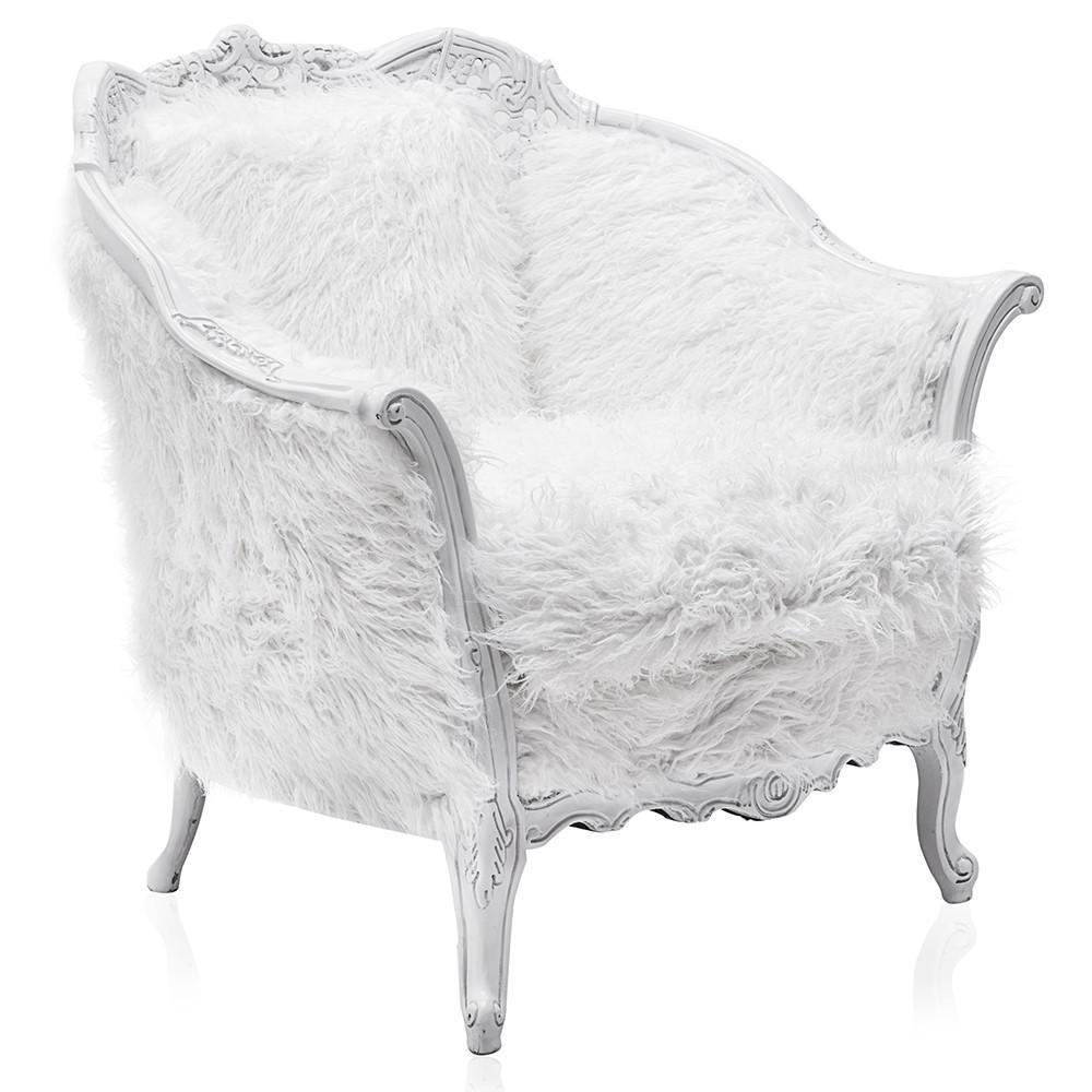 White Victorian Fuzzy Chair In 2020 Fuzzy Chair Chair