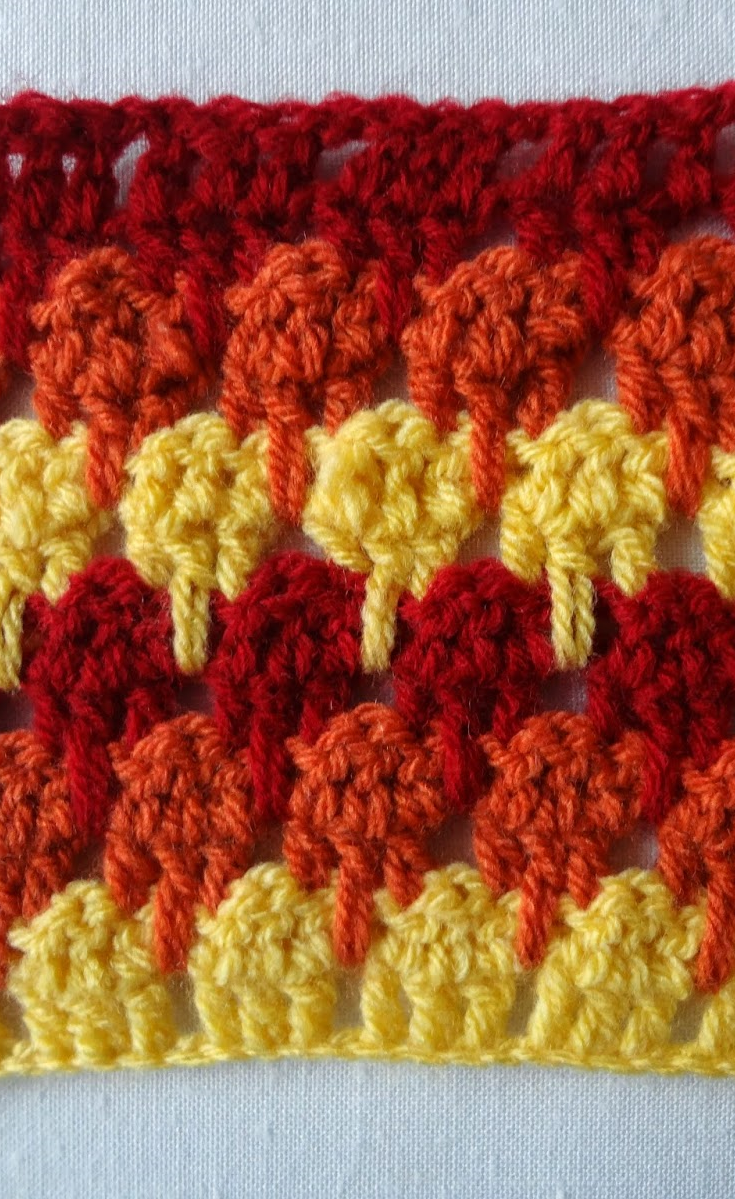 Larksfoot Crochet Stitch Pattern (or the Icicle Stitch) Demistified ...
