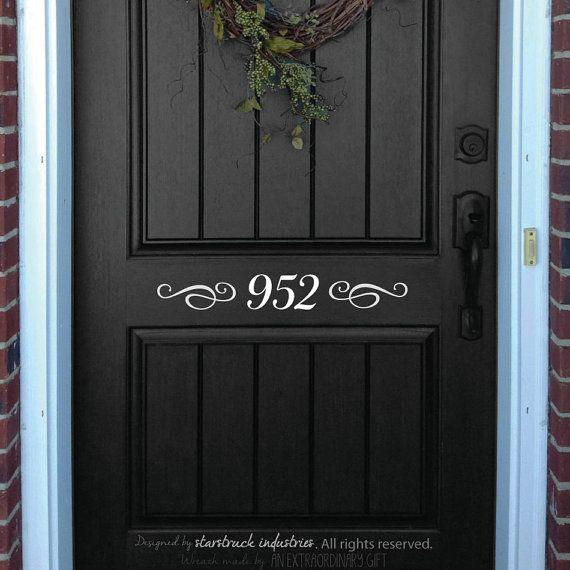 Front Door Decal House Number Decorative Front Door Decor