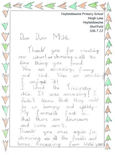 Getting the children to write a thank you letter after a school - how to write a thank you letter