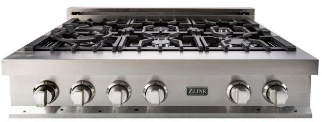 Zline Rt36 Stainless Steel Cooktop Cast Iron Grill Cooktop