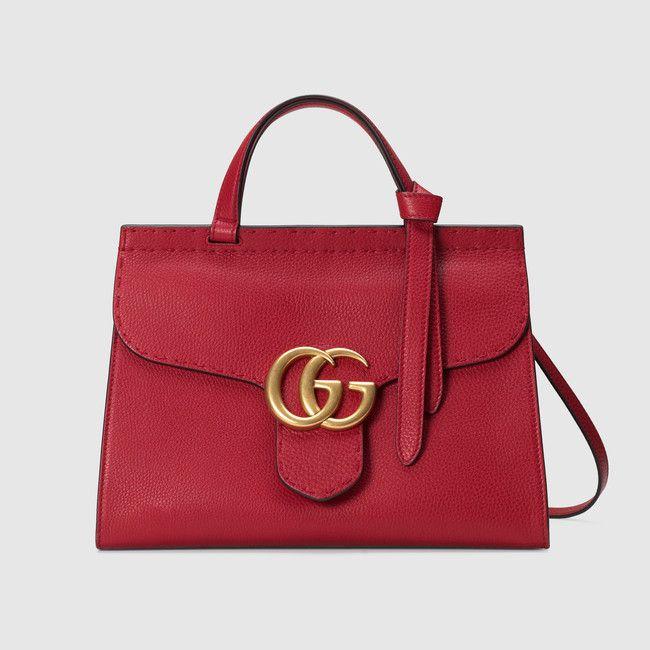 bcabf891b GUCCI - GG Marmont leather top handle bag Gucci Shoulder Bag, Red Shoulder  Bags,