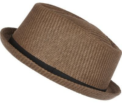 8ce3299b3 River Island Mens Brown straw pork pie hat | Men's Hats in 2019 ...