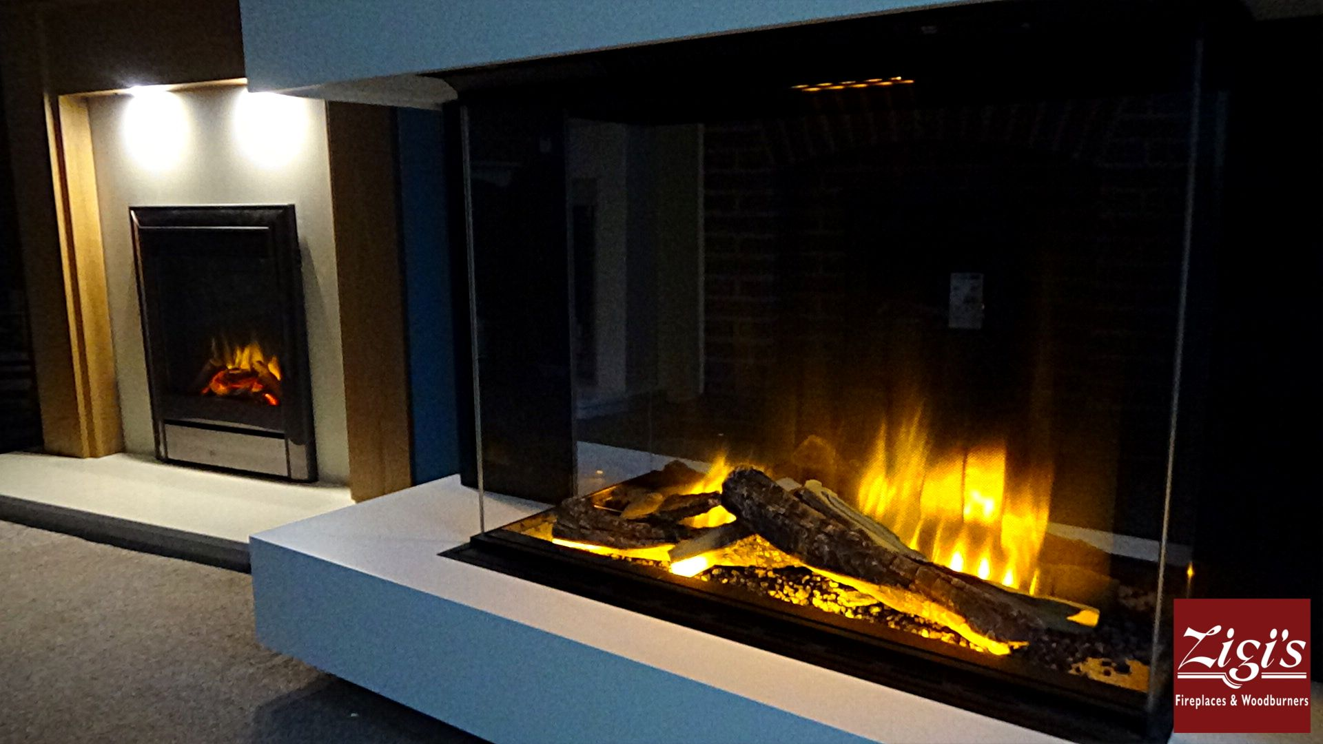 Shown Here In Our Halstead Showroom The Evonic Fires E800gf3