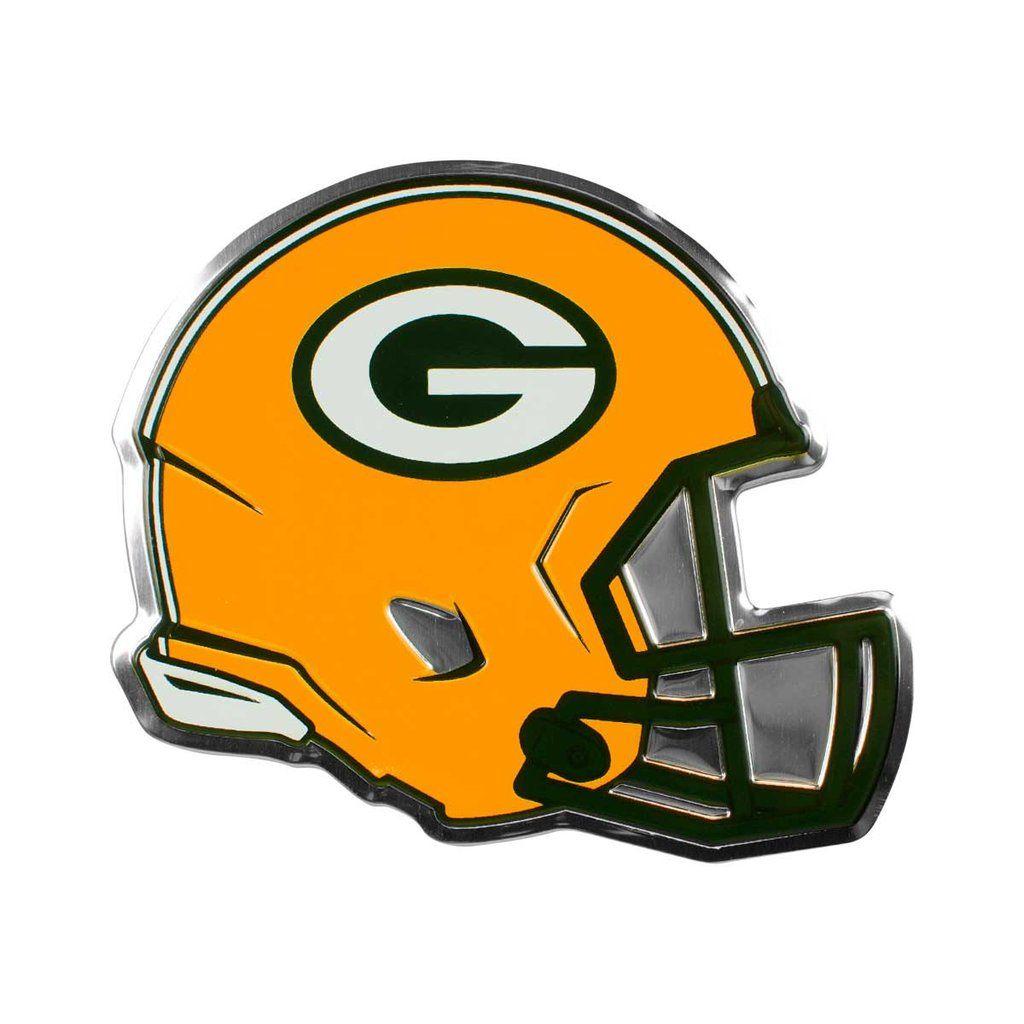 Green Bay Packers Helmet Auto Emblem Promark Green Bay Packers Helmet Nfl Packers Nfl Green Bay