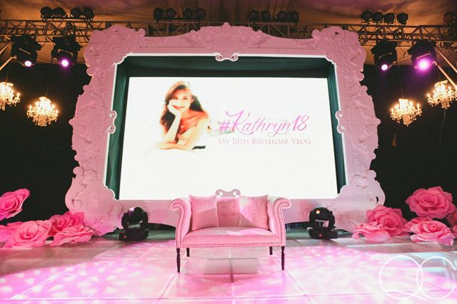 Kathryn Bernardo S Debut Featured Pink Modern Vintage Details Check Out The Photos Here Kathryn Bernardo Debut 18th Debut Theme Debut Themes