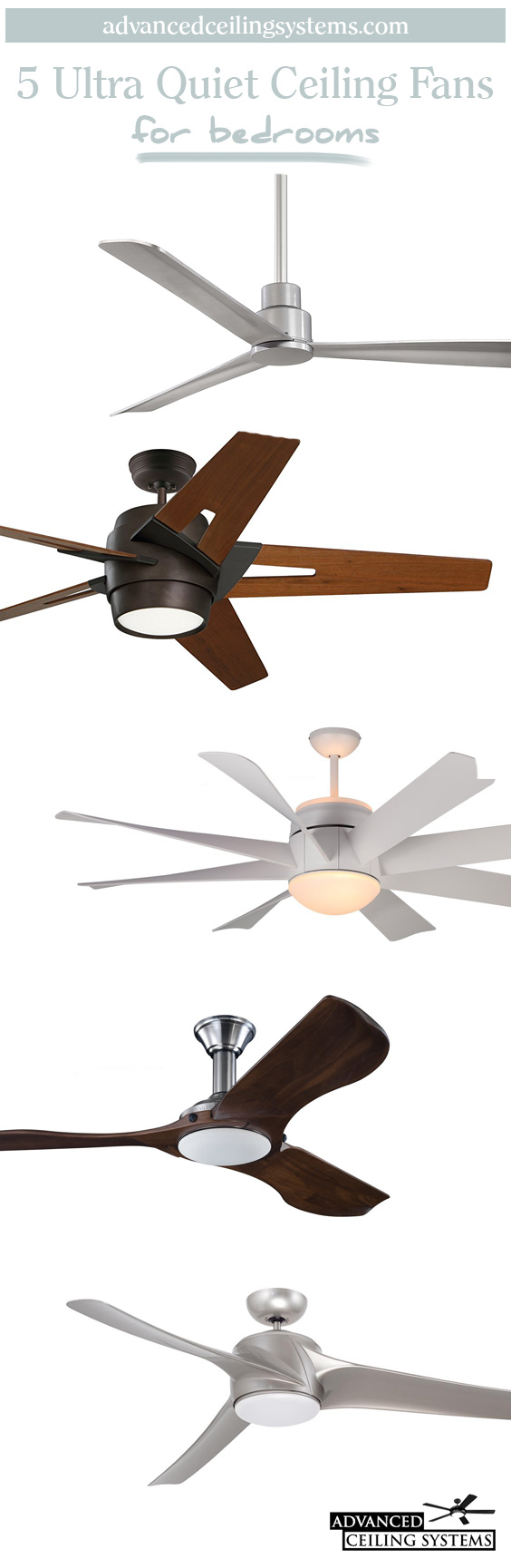 5 Quietest Ceiling Fans Available Right Now
