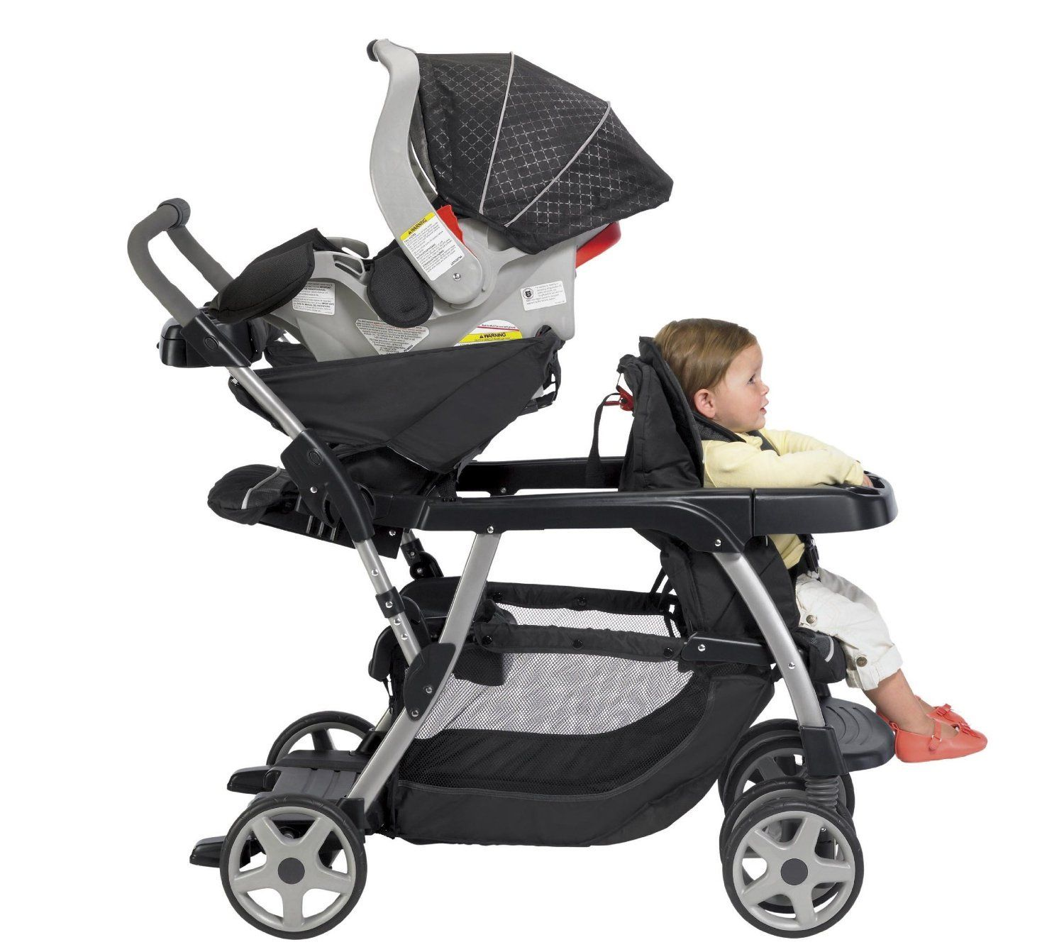 Graco Double Stroller\/Twin Stroller with 2 Car Seats