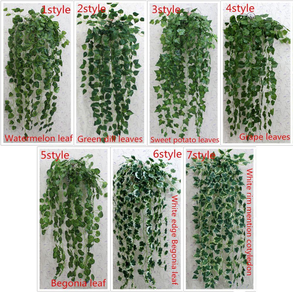 1 pcs 90 cm pas cher artificielle feuille de lierre for Plantes vertes pas cher