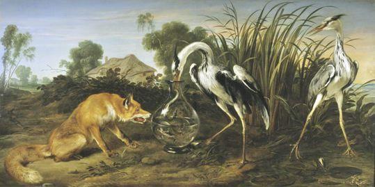 Le renard et la cigogne frans snyders cigognes pinterest arts visuels visuelle et art - Dessin le renard et la cigogne ...