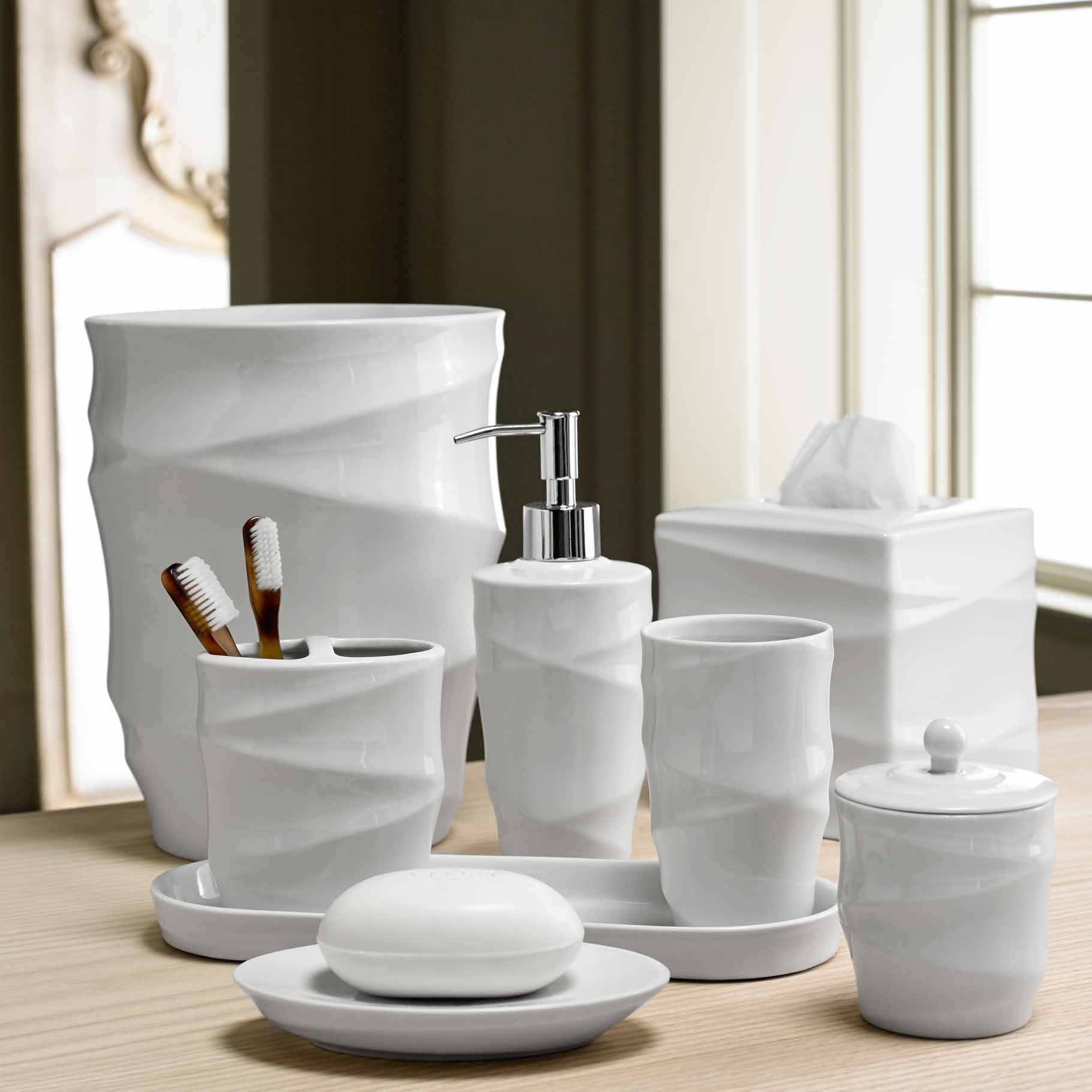 Modern Line Bath Accessory Collection   Overstock Shopping   The Best  Prices On Bathroom Accessory Sets