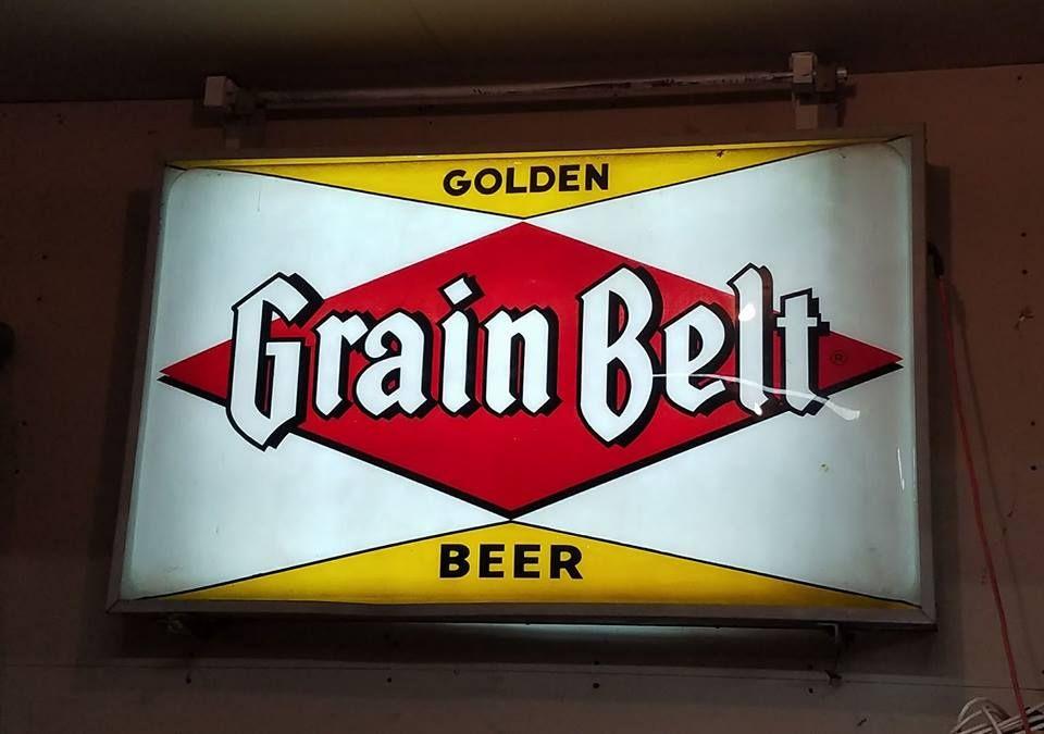 Grain belt lighted beer sign grain belt golden | Beer signs ...