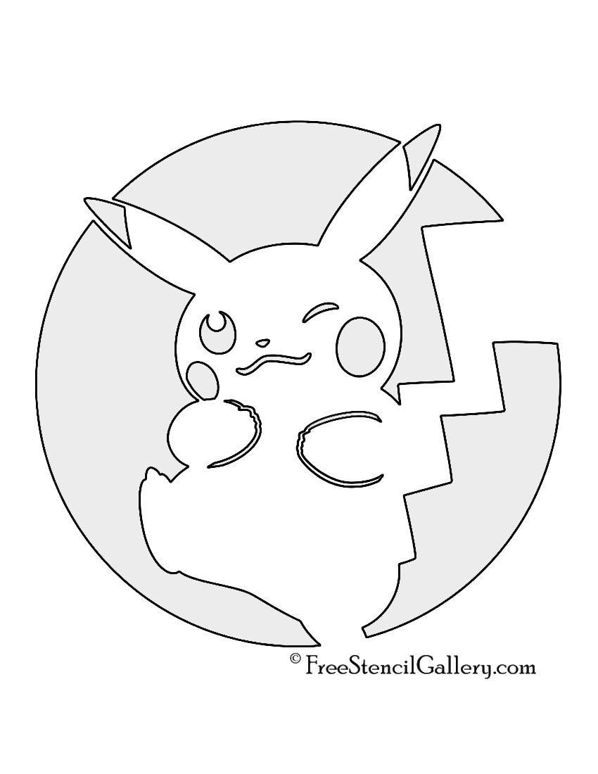 Pikachu Pokemon Stencils Images | pumpkin carving | Pinterest