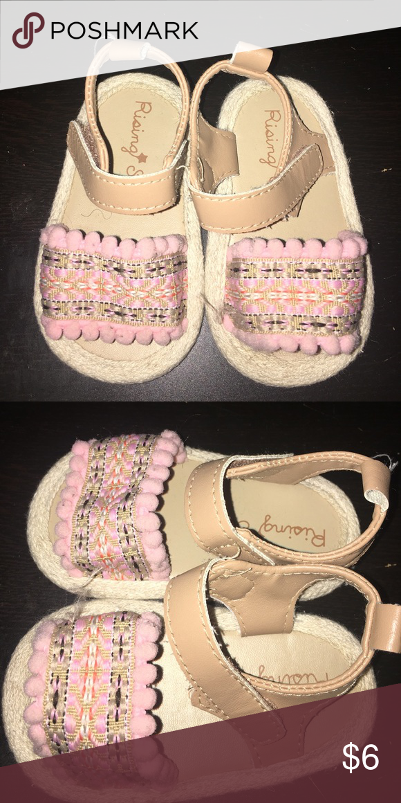 497e1756e54f Baby sandals Knit baby sandals size 3 soft bottom non walking shoes great  for baby girl 6-9 mo Shoes Sandals   Flip Flops