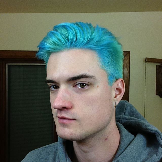 New Blue Hair Dye Dyed Hair Men Men Hair Color Cool Hair Color