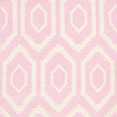 Safavieh Dhurries Pink/Ivory Rug | Wayfair