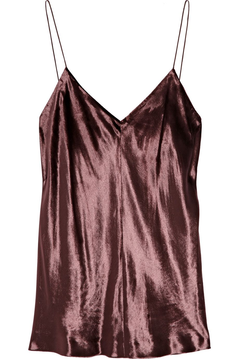 Panne-velvet camisole by T by Alexander Wang
