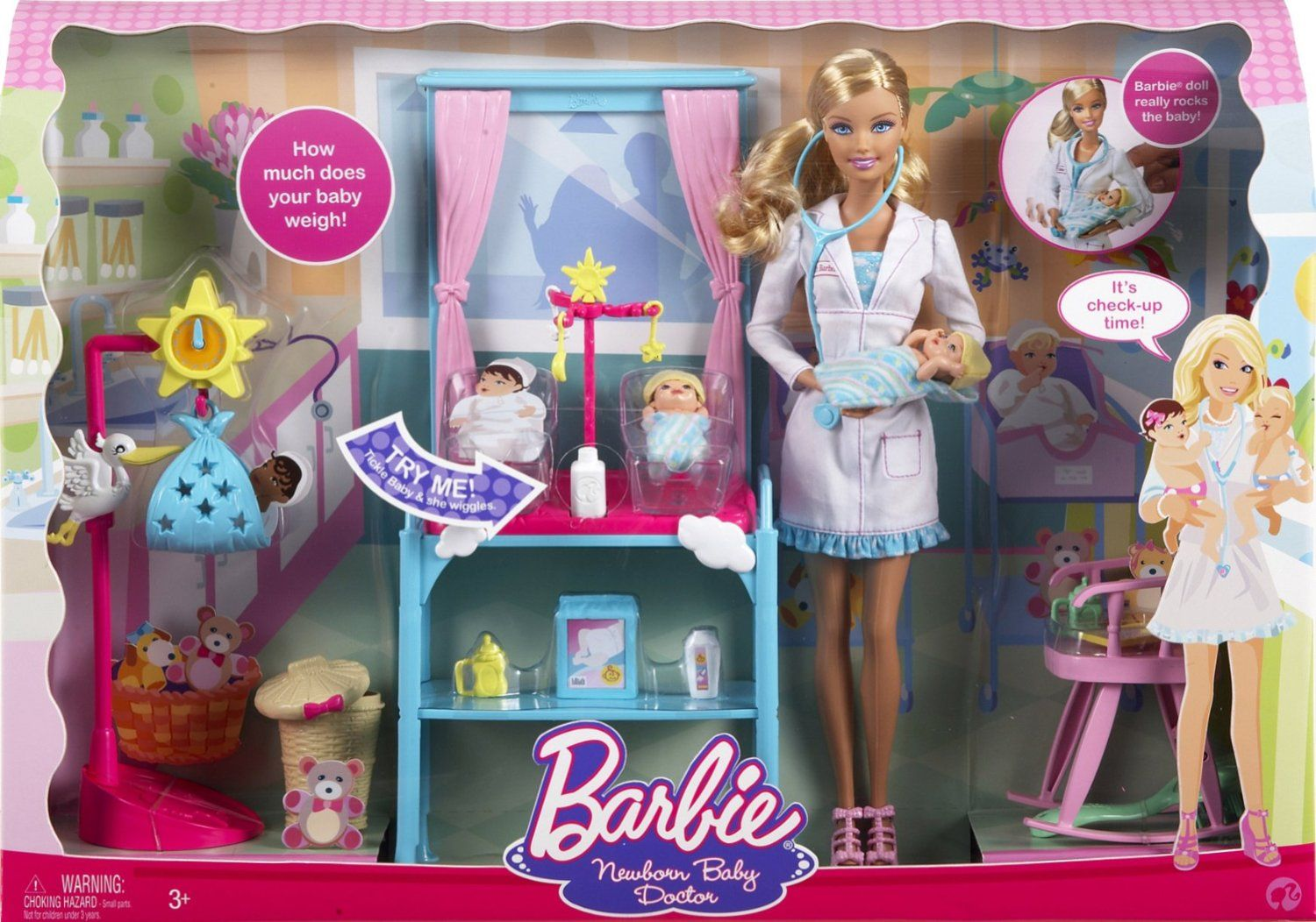 Amazon Com Barbie I Can Be Newborn Baby Doctor Toys Games