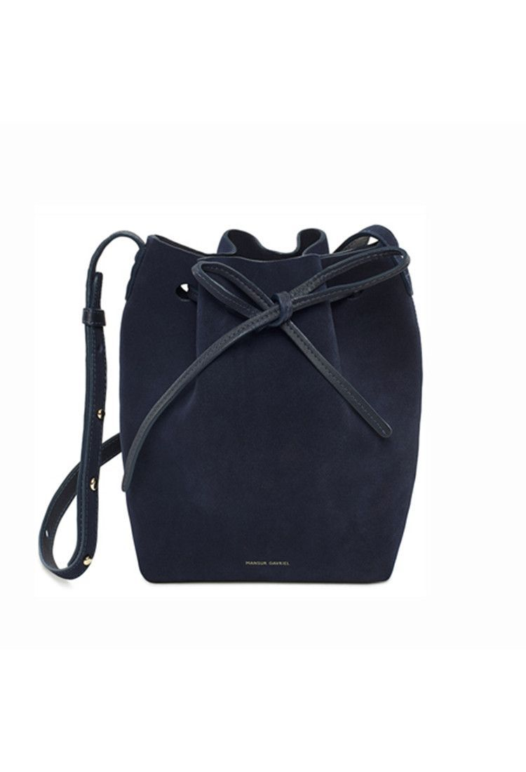 Mini Blu Suede Bucket Bag In 2019 What Makes The Outfit