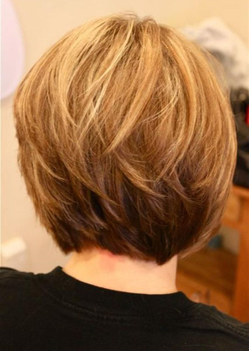 short bob - back | style | stacked bob hairstyles, line bob