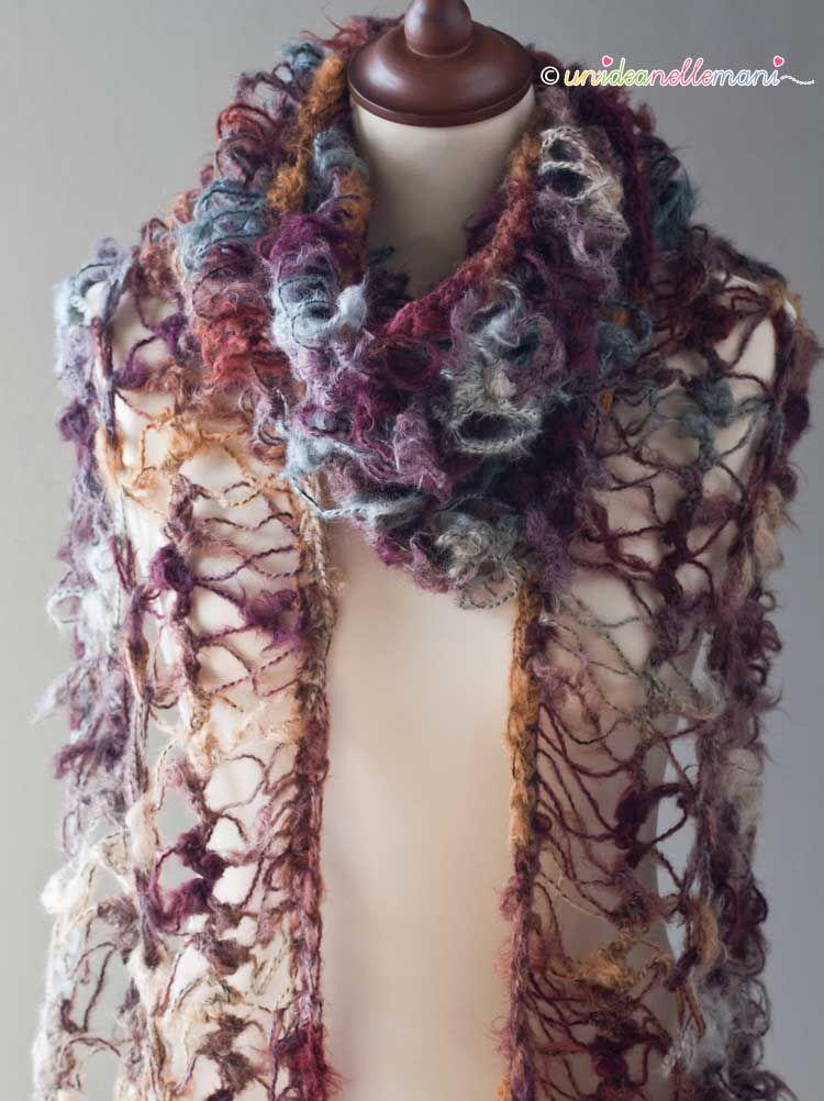 super economico metà prezzo vendita più calda Come fare una bella sciarpa con uncinetto a forcella ...