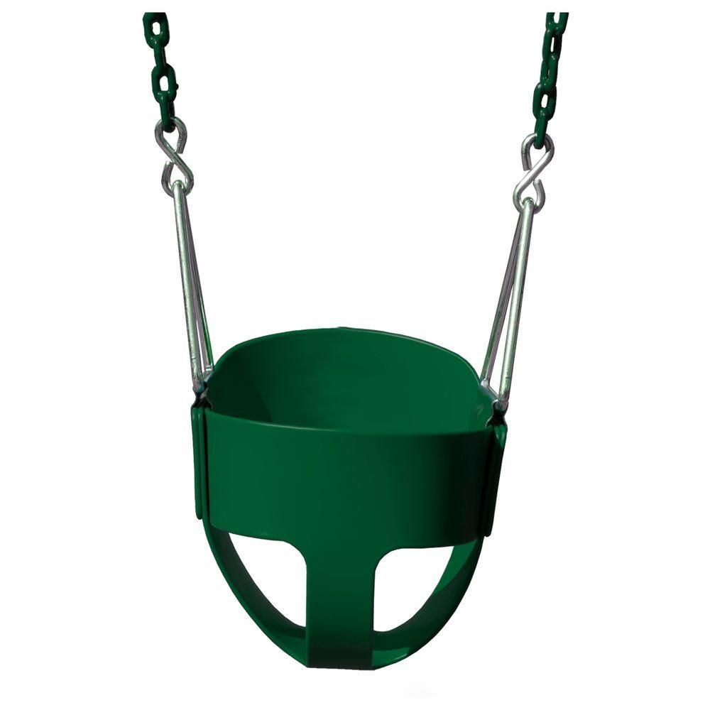 Gorilla playsets fullbucket swing with chain in green products