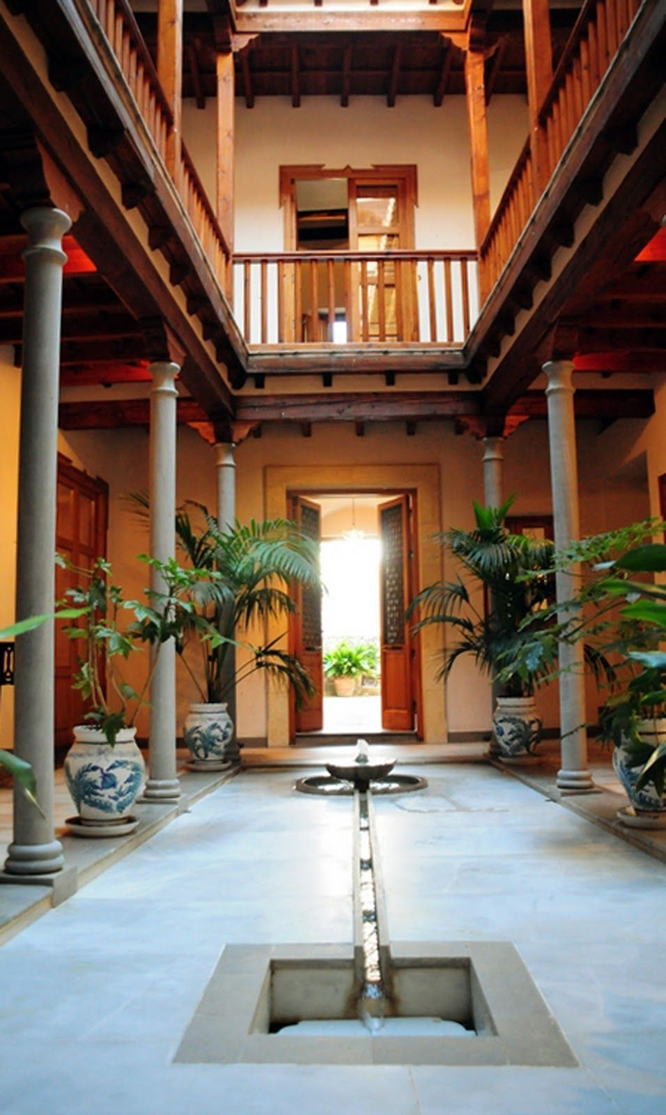Sloping Roof In The Courtyard Inside The Southindia House