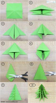 Origami weihnachtsbaum faltanleitung