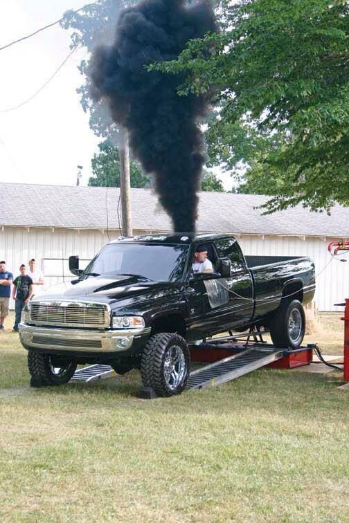 Dodge Cummins Diesel Rolling Coal Pickup Trucks
