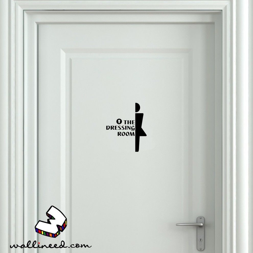 the dressing room door sticker dressing door sign door decal the dressing room door sticker dressing door sign door decal funny door sign in home