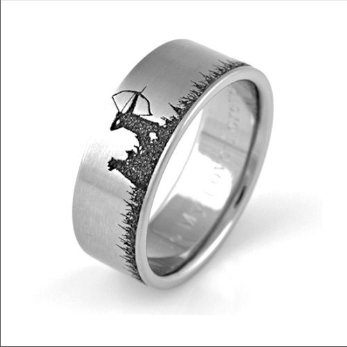 Wedding Rings : Antler Wedding Band Durability Camo Engagement ...