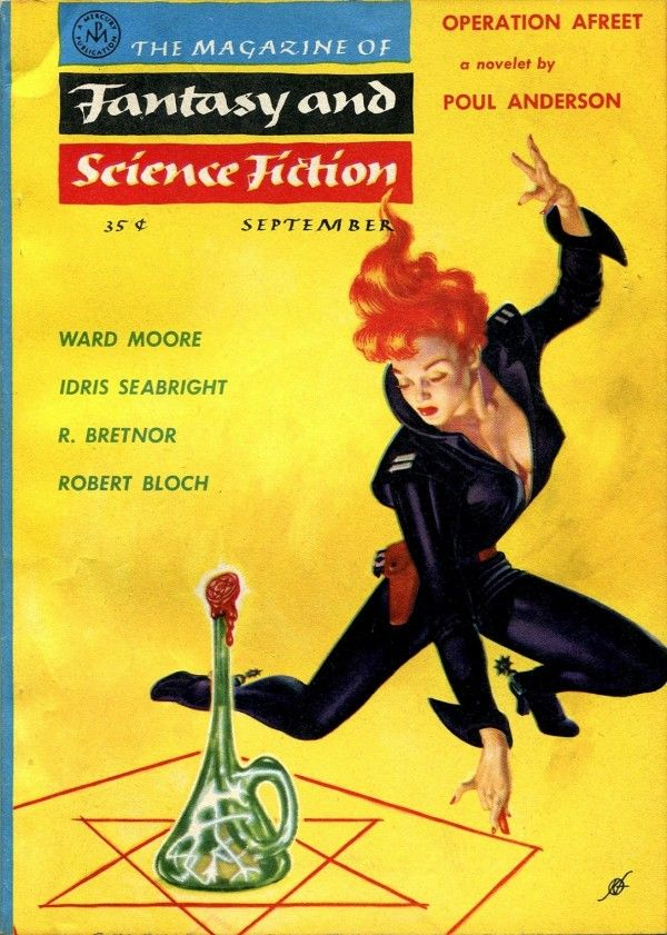 Frank Kelly Freas cover for Fantasy and Science Fiction