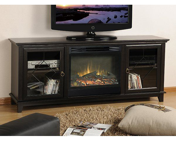 Pin On Surrounding Black electric fireplace tv stand